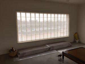 Jolanda Maurix | JOXAL interieur | Portfolio | Raamdecoratie | Vouwgordijn 420 cm lang