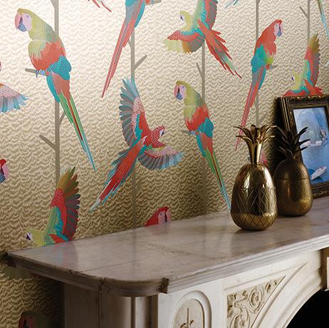 Wand bekleding | Linnen Behang | Matthew Williamson | JOXAL | Jolanda Maurix | Gordijnen | Shutters | Interieuradvies