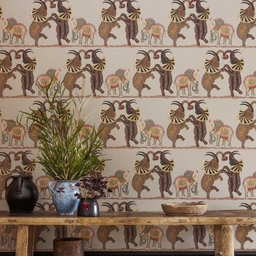 Cole & Son | Ardmore Safari Dance | Wandbekleding | JOXAL | Jolanda Maurix | Gordijnen | Shutters | Interieuradvies 4