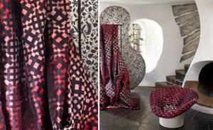buitengewone stoffen | stof met bijzondere print | speciale gordijnstof | bijzondere gordijnen | Jolanda Maurix interieur advies