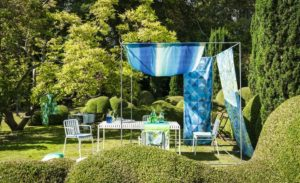 Palme Botanique Outdoor Fabrics | buitenstof van Designers Guild | loungeset bekleden | stoffen voor buitenset | stof voor loungeset | buitenmeubel | buitenkussens