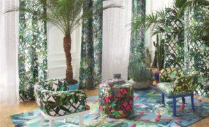 Christian Lacroix collectie Joxal interieur interieurstoffen behang wallpaper Nouveaux Mondes Fabrics