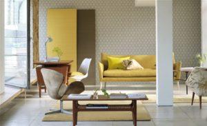CHINON textured wallpaper - wandbekleding - designers guild - Joxal interieur - schagen - woonzaak - interieurstyling - jolanda maurix interieur